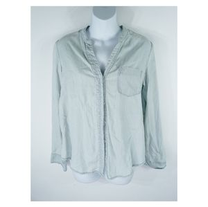 Holding Horses long sleeve button down laced top